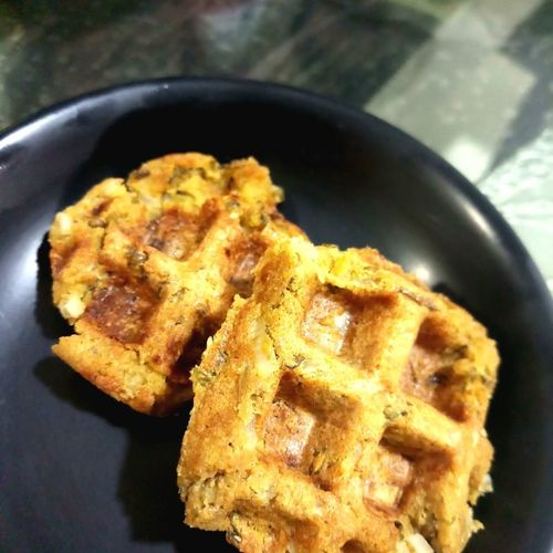 Savoury Soya Waffles