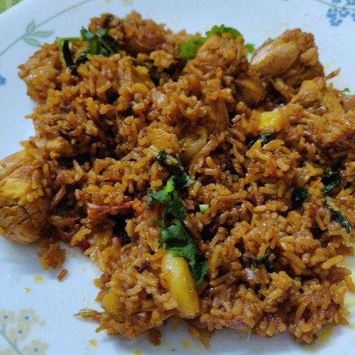 Pan Chicken Biryani