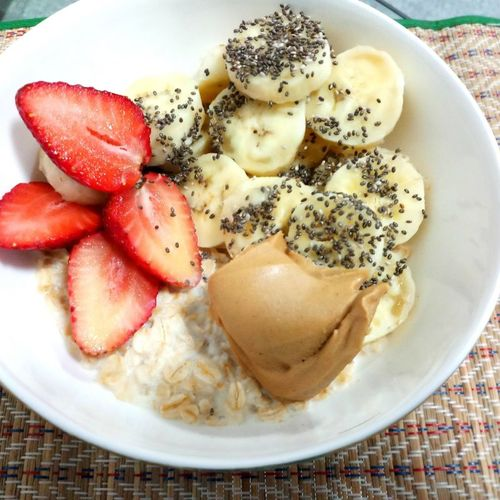 Oats with Fruit and whey