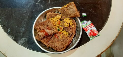 Brown Bread with Soya Upma
