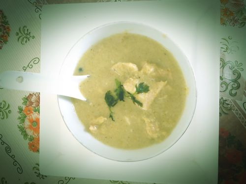 Broccoli Bajra Chicken Soup