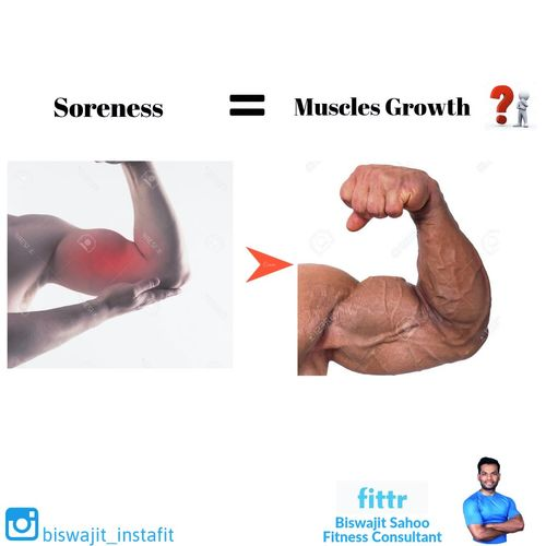 More the Soreness, better is the muscles growth?