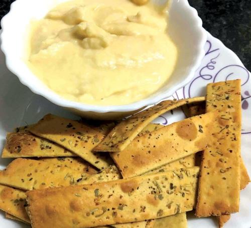 Soya Lavash and Hummus