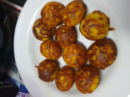 soya onion pakoda in appe pan