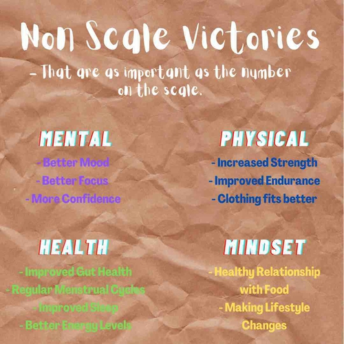 Non-Scale Victories! (- that are as important as the number on the scale)