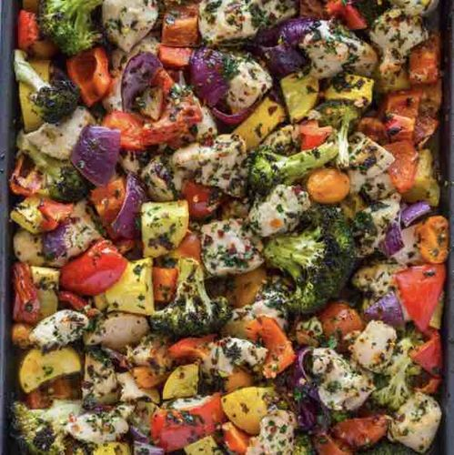 Garlic and herb chicken and veges