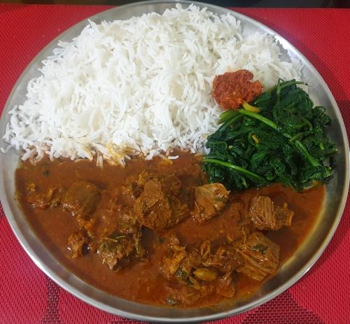 Mutton Korma & Rice