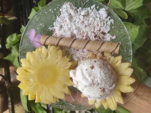 Coconut pineapple protien Sundae