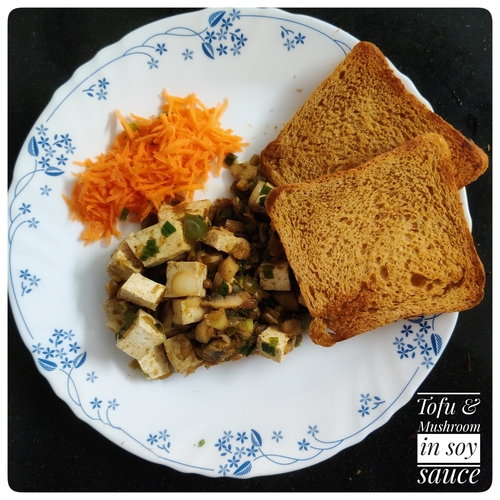 Simple Tofu and Mushroom in Soy sauce