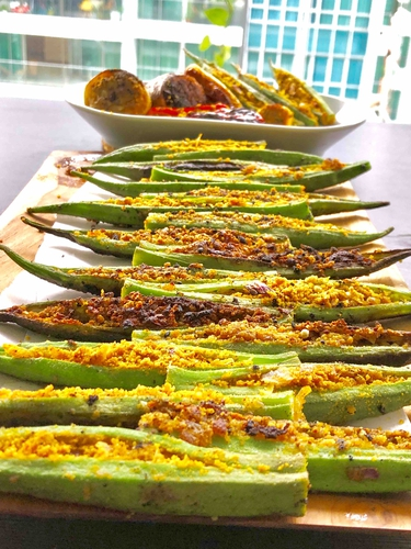 stuffed Okra ( bharwan bhindi )