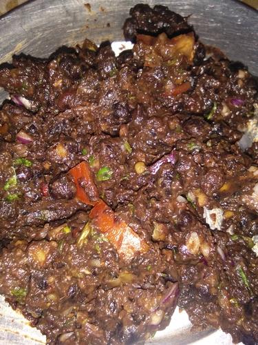 tasty kale chana chat