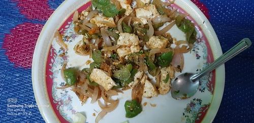 roasted paneer and veggies