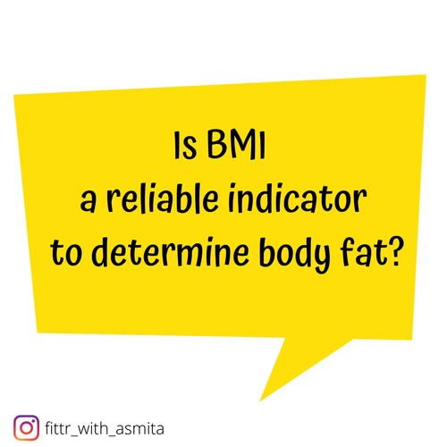 Is BMI a reliable indicator to determine body fat percentage?