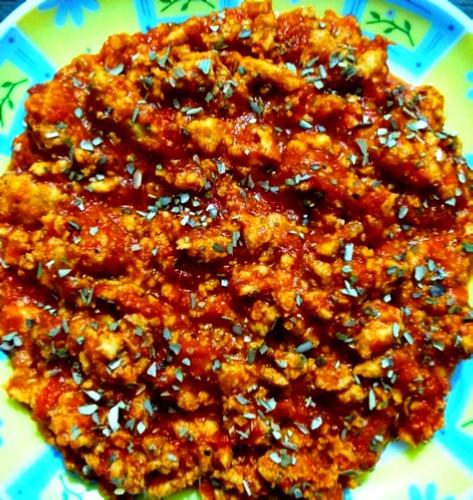 Minced Chicken in Marinara sauce