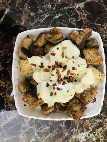 Cheesy soya & tofu stir fry