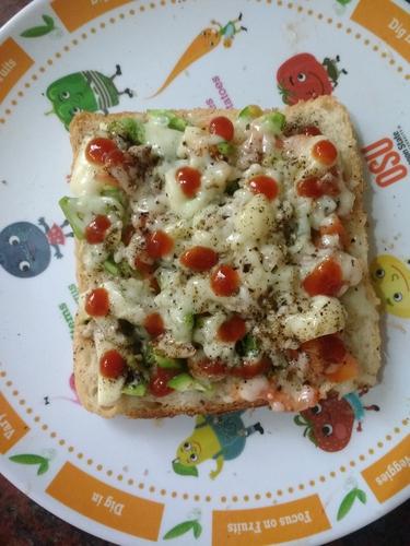 Cheeze bread pizza