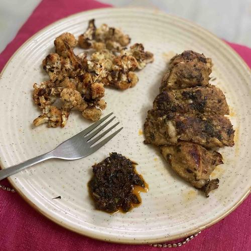 Keto - Chermoula Chicken with Oven fried Cauliflower