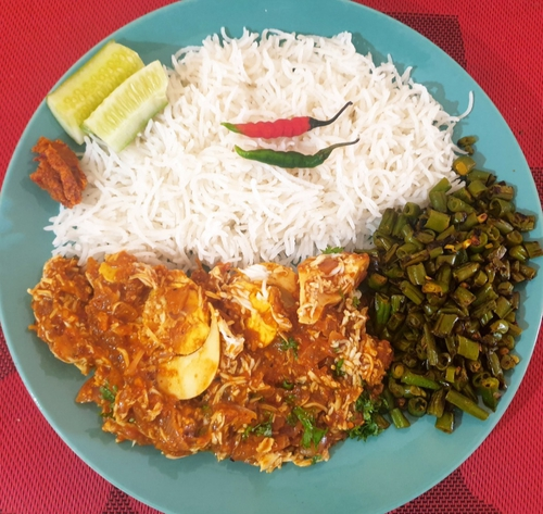 Egg Curry Rice