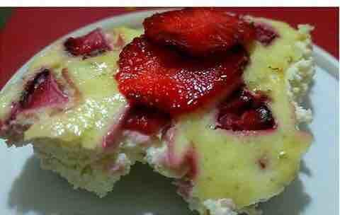Paneer Strawberry Pudding