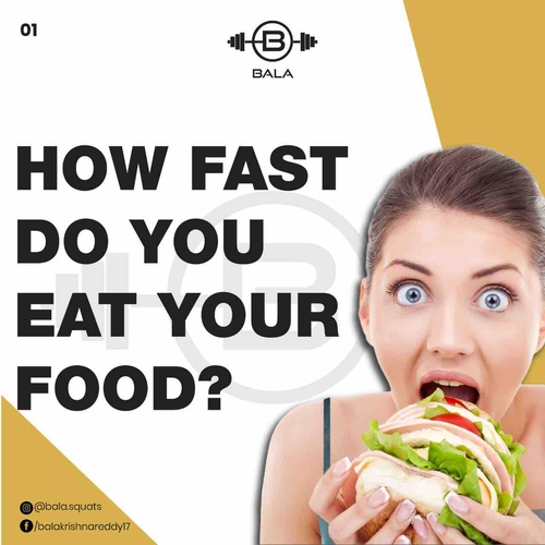 How fast do you eat your food?