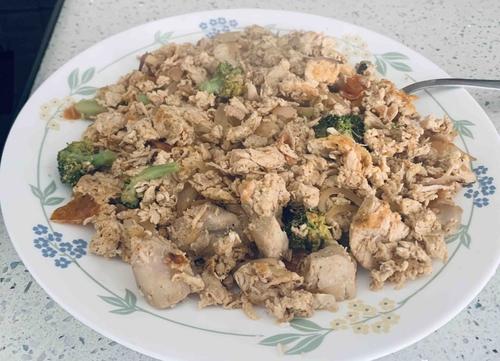 Boneless chicken egg bhurji