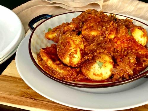 mutta egg and paneer roast ( serves 3 people )