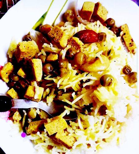 Tofu pulao/ Soy paneer pulao