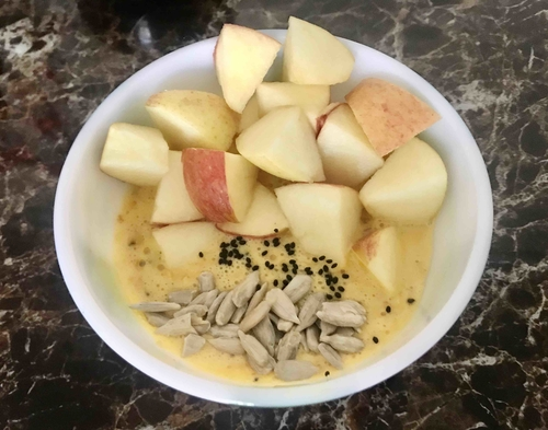 Overnight protein oats & apple