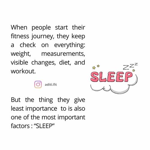 How does sleep impact your progress?