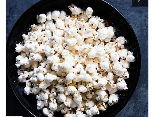 Lemon Parm popcorn