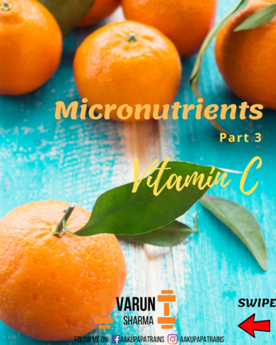 Micronutrients Series-Part 3 Vitamin C