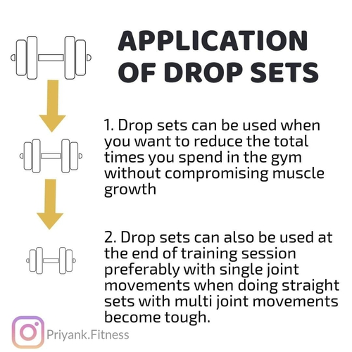 TIME EFFICIENT TRAINING TECHNIQUE - DROP SETS