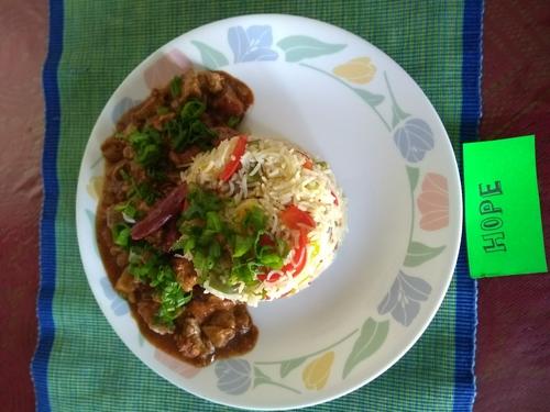 Spicy Oriental soy chicken &  Veggies Fried Rice
