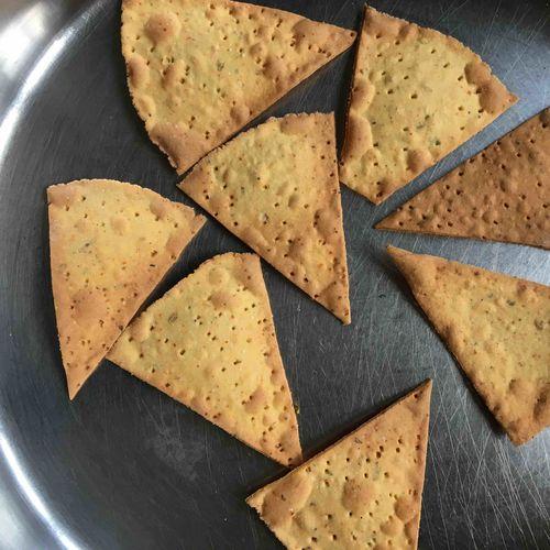 baked soya nacho chips