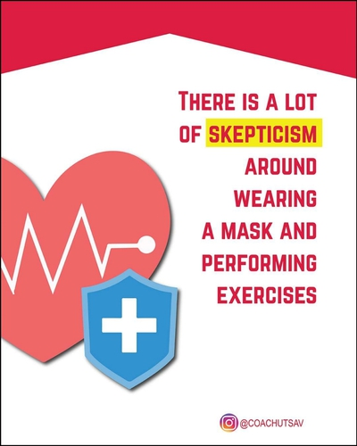 How safe is doing any exercises while wearing a mask?