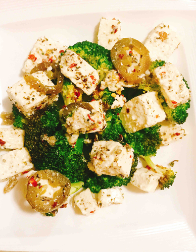 Broccoli with paneer