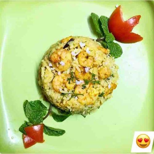 Kolambi dudhi bhat( prawns& lauki rice )