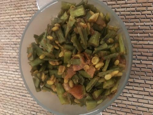 Dal Gawar phali (Cluster beans) bhaji