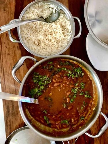 Rajma rice (serves 2)