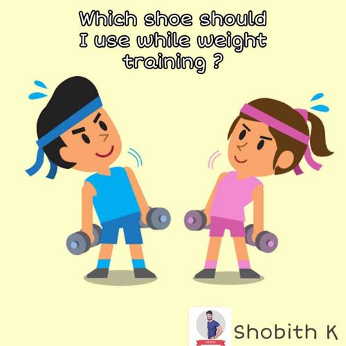 Flat shoe or runner shoe while weight training ?