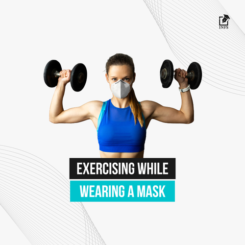 Exercising while wearing a mask