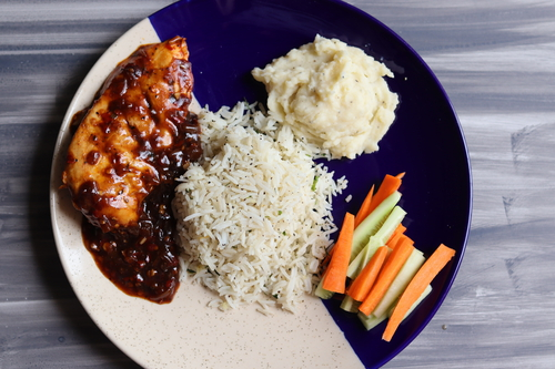 Grilled Chicken Steak with mashed potato