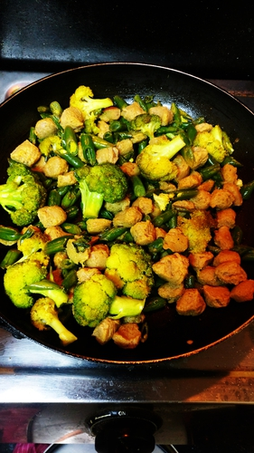 Soya-Brocolli veggies delight