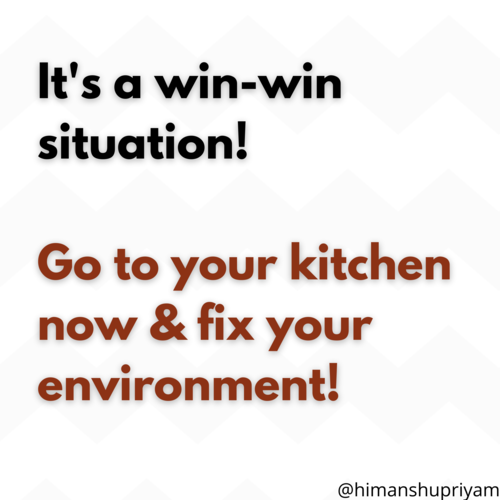 Fixing your environment to lose weight!