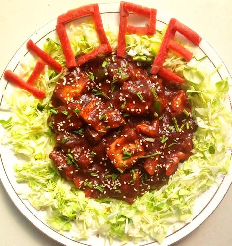 Crispy Paneer in tangy sauce