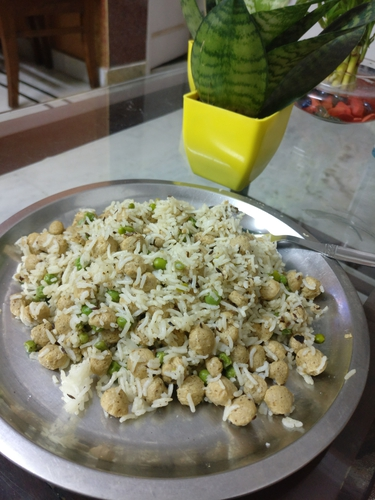 Soya and peas pulao