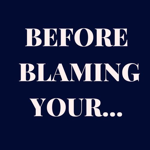 Before blaming your...