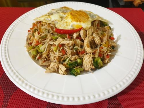 Chicken Egg Fried Rice- Piri Piri