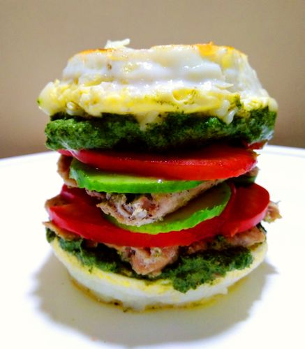 Cheesy Egg Burger