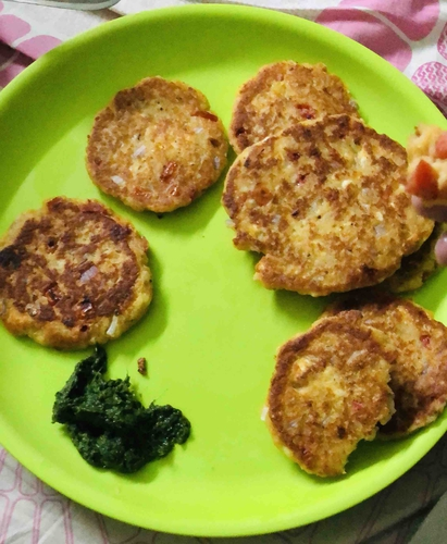 Panner and Rice flour Tikki